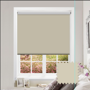 Cream Roller Blind - Bahamas Creamy Cream